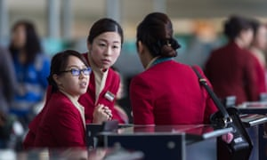 Cathay Pacific staff