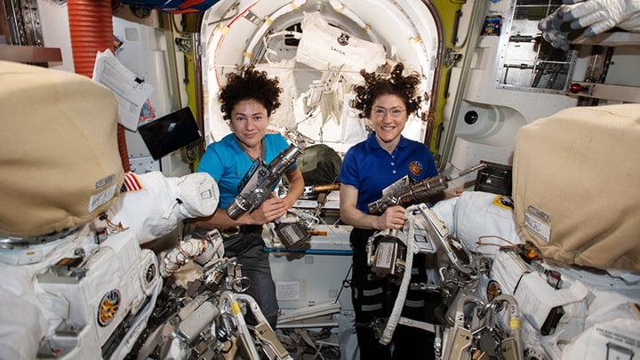NASA astronauts Jessica Meir and Christina Koch